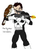 Punisher + Daemon by kaoshoneybun