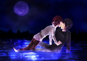 Kiss on the water by kazelee