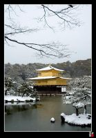 Kinkakuji in the SNOW by tensai-riot