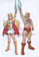He-Man and She-Ra comission by Serio555