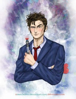 The Tenth Doctor by sketchditto