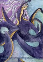 Olivia the Sea Witch ACEO by SashaFitzgerald