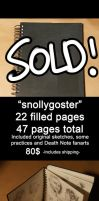 SKETCHBOOK SALE-snollygoster by Lapis-Razuri