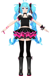 .:TDA out of the gravity Miku WIP 2: by ChocoFudge98