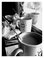 Morning Coffee by mentallydeceased