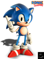 Remodeled Classic Sonic by Fentonxd