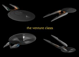 the venture class starship by Hokens