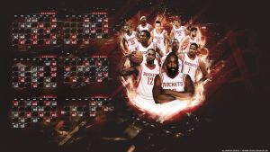 Houston Rockets schedule 14-15 by Cotovelo