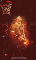 Derrick Rose dunk wallpaper by RafaelVicenteDesigns