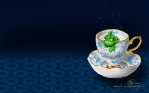 Lounging in a tea cup by Tella-in-SA