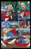 Supergirl vs Nuclear Girl - commission by mhunt