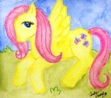 Watercolor MLP:FiM Fluttershy by pheonixrise1313