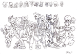 Rave Battle cast-uncoloured by Ryanide