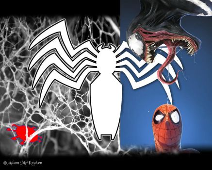 Spidey-Venom Wallpaper by AdamMcKraken