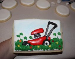 Jumbo lawn mower cookie by picworth1000wrds