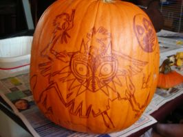 Majoras Mask Pumpkin by Kawaii--Koneko