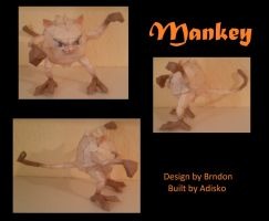 Paper Pokemon Mankey by Adisko