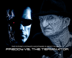 Freddy Vs. The Terminator by MrAngryDog