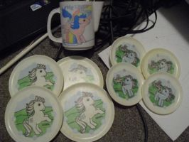 1984 My Little Pony Plates-cup by SailorUsagiChan