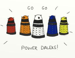 .Go Go Power Daleks. by bababug