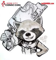 RoseCityComicCon2014 - Rocket Raccoon by theCHAMBA