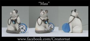 Mau The Siamese Cat Miniature Sculpture by natamon