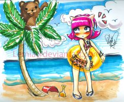 Annie goes to the Beach by LemiaCrescent