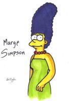 marge simpson by shadowart-ist