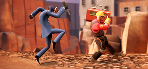 Spy VS. Engineer by cakemanlhk