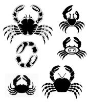 Crab Tattoo Designs by frogmelon