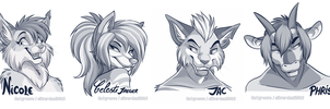 Twitter headshot sketches Part 2 by SilverDeni