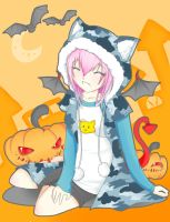 super sonico halloween kitty by blavk