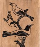 Bird Woodcut by ckovacs