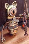 Steampunk Minion Fisher Cat Robot by CatherinetteRings