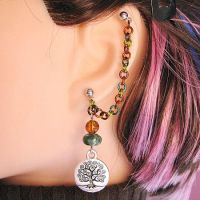Party Tree Cartilage Earring by merigreenleaf