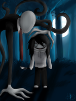 Jeff and Slender by Wolfy-Doll
