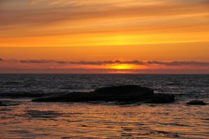 Sunset at Boiler Bay by m-faccone