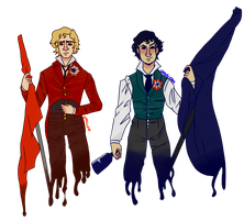 Enjolras and Grantaire by Umelcom