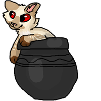 Cat in a pot Artrade with Potofkimchi by DieselPaws