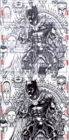 BLACK PANTHER sketch card puzzle MARVEL UNIVERSE by slickaway