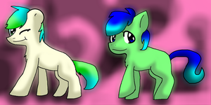 Boogle and buster the ponies! by X-DaveTheCat-X