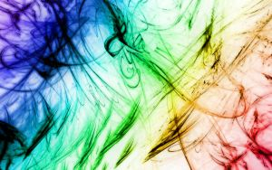 Abstract lines RAINBOW COLORS ON WHITE by RAD-Master-PL