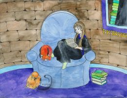 In the Ravenclaw Common Room by mene