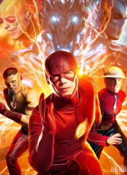 The Flash Speedsters Poster by Timetravel6000v2