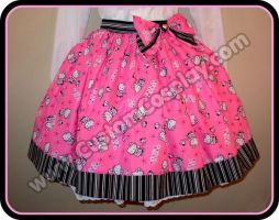 Pink kitty lolita skirt 2 by The-Cute-Storm
