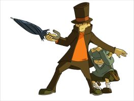 Commission - Prof. Layton by JasmineLea