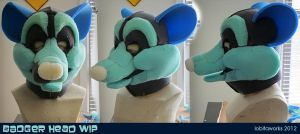 Brock Badger Foam WIP Head by LobitaWorks