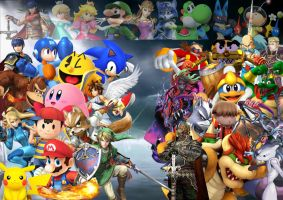 Super Smash Bros Dissidia 012 and 013 by SuperSaiyanCrash