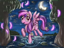Request 4: Moonlight Blossom by TheBowtieOne