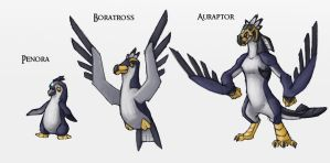 Fakemon Water Starters by Either-Art